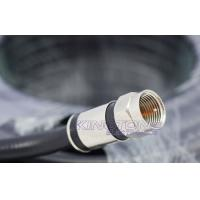 China Digital Camera Transmit CATV Coaxial Cable RG6 in 20M Black with Compression Connector on sale