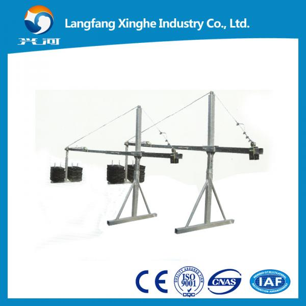 Quality zlp630 aluminum hanging scaffolding , suspended scaffolds platform , electric working cradle , swing stage gondola for sale
