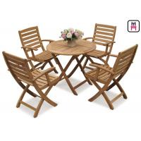 China Rectangle / Round / Square Folding Table And Chairs Solid Wood Garden Furniture Sets  wholesale