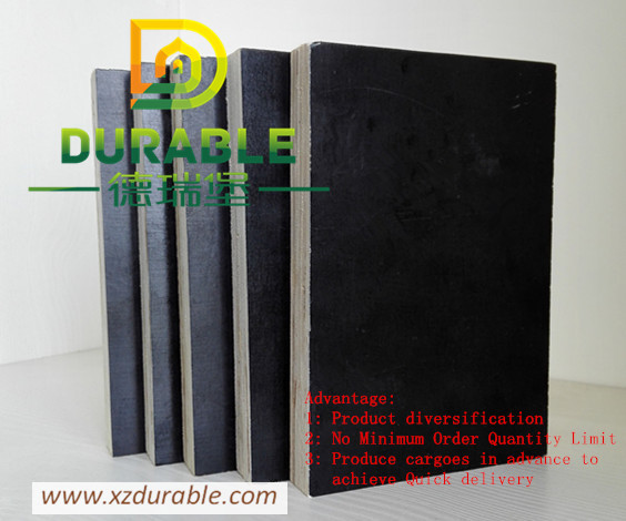 Quality China Cheap price plywood  15mm black film faced plywood 4*8/5*10 standard size Durable Solid Plywood For Europe Market for sale