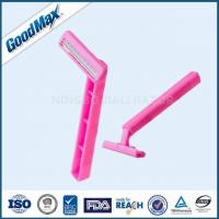 China Smooth Glide 2 Blade Disposable Razor , Pink Twin Blade Safety Razor wholesale