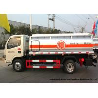 China 4x2 Refueling Fuel Oil Delivery Truck 4000 L With Dual Circuit Compressed Air Brake wholesale