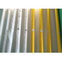 China Low Elongation Polyester White And Yellow Screen printing Mesh  90T-180T for  Ceramic Printing on sale