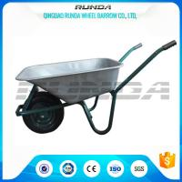 China Tubular Steel Axle Heavy Duty Galvanised Wheelbarrow 5CBF Sand Capacity Wb6414t wholesale