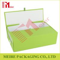 China Green color Foldable Box Folding Boxes supplier with two door open and ribbon push wholesale