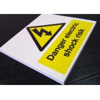 China Real Estate Outdoor PVC Sign Board Warning Function White Fire Retardant on sale
