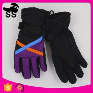 China Stock Sport Crossed Colorful Winter Waterproof Finger Cover Snow Snowboarding Sportswear Women's Ski Gloves on sale