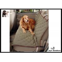 China Dog Proof Car Seat Covers Rubber / Suede Khaki Car Pet Barrier For SUV on sale