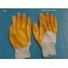 China Interlock Lining Orange Latex Coated Glove For Western Safety wholesale