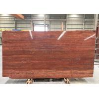 Red Travertine Natural Stone Tiles Countertop Use 20mm Big  Slabs Type