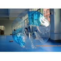 China 0.7mm TPU 1.5m Inflatable bumper ball Blue Striped  with  CE / EN14960 / EN71 / SGS wholesale