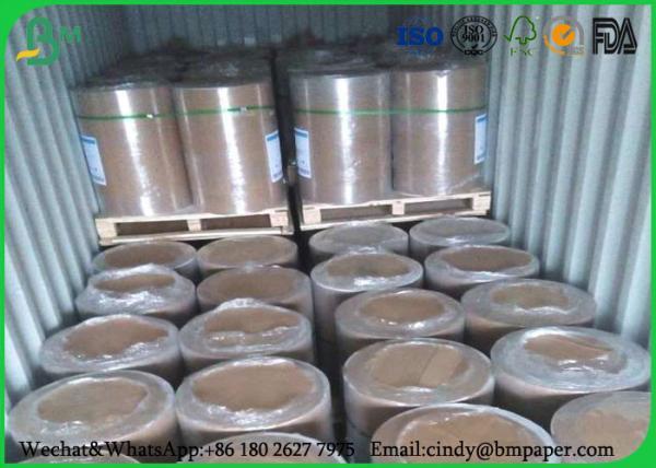 Quality Ширина 594мм бумажной толщины 55гсм слон крена пульпы девственницы белая для бумажной коробки for sale