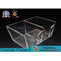 China Two Sides Box Casino Clear Acrylic Playing Card Poker Discard Holder For Gambing Games wholesale