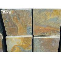 China Rusty Yellow Natural Slate Floor Tiles Non Slip Wear Resistant OEM / ODM Service wholesale