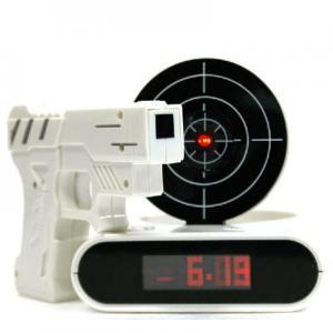 """China Unique 2.3"""" LCD Laser Target Alarm desk Clock Set on sale"""
