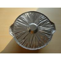 China X-large Aluminum Foil Baking Pans With Lids Round Shape For Food Package 0.135MM Thickness wholesale