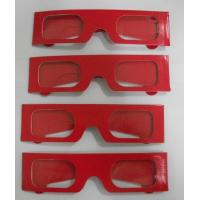China Paper Stereoscopic 3d Glasses For Watch 3D Games , 405x38mm Size wholesale