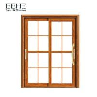 China Waterproof Champagne Aluminium Sliding Patio Doors With Flexibility Frame 1.1mm on sale
