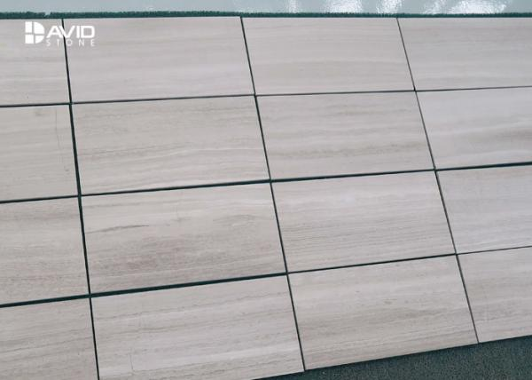 Quality Grey Wood Grain Color Marble Stone Tile For Interior Wall Cladding High Hardness for sale