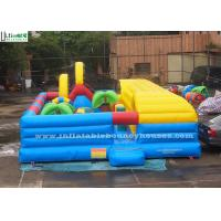 China Indoor Kids Inflatable Bounce Houses Playground With Tunnel Slide wholesale