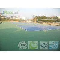 China Olympic Tennis Court Surface , PU Sports Flooring Anti Slippery Sound Reduction wholesale