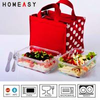 China Heatproof Pyrex Glass Storage Containers For Food In Refrigeratory 850ml on sale