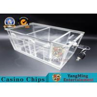 High Quality Two Sides Box Gaming 8 Deck Acrylic Poker Discard Holder With Locks