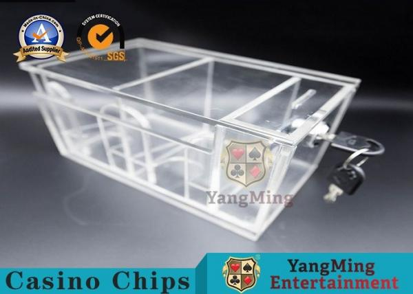 Quality High Quality Two Sides Box Gaming 8 Deck Acrylic Poker Discard Holder With Locks for sale