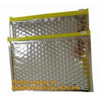 China Promotional inner package shipping slider bubble bag,Plastic clear bubble bag with zip lock slider zipper bagease pack on sale