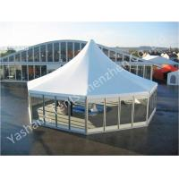 China Octagonal Outdoor canopy gazebo tent Transparent Glass Wall and Door 3m Side Length wholesale