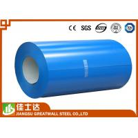 China Blue Prepainted Galvanized Color Steel Coil PPGL Coils 700-1250mm Width wholesale