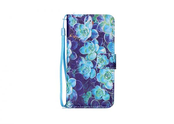 Quality Multifunctional Dust Proof Phone Case , Blue Flowers Scratch Proof Iphone 6 Case for sale