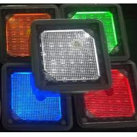 4x4'' square white blue green yellow red Solar landscaping paver brick lights stainless steel pathway lights