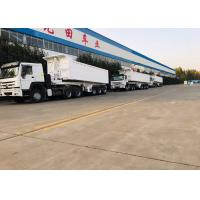 China Heavy Duty White Color Semi Bed Trailer For 60 Tons Loading Capacity wholesale