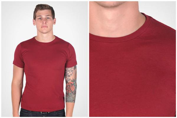 Quality Slim Fit T Shirts Mens Polyester Spandex T Shirts for sublimation for sale