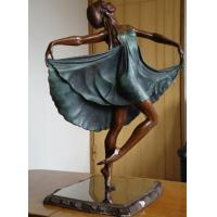China Modern Art Deco Bronze Gypsy Dancer Sculpture wholesale