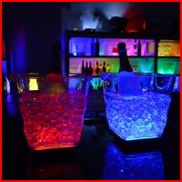 China 2017 New Design 5L Led ice Wine Beer buckets For Night Bar Pub KTV Use Color Changing 20*20cm wholesale