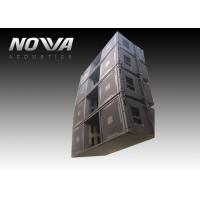 China High Powered Line Array Speakers For Big Performance , Black Color wholesale