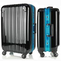 China Lightweight Travel Luggage ABS PC Rolling Suitcase Hard Carry Case 2PCS TSA Lock wholesale