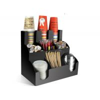 China 3 Floor 9 Compartment Paper Cup Rack For Straws Paper Towel Milk Ball Chopsticks Storage wholesale