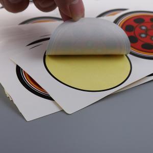 Permanent Printed Self Adhesive Labels Private Logo Glossy Lamination