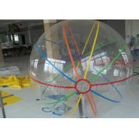 China Customized Retail Stripe colorful Inflatable Walking On Water Balls Plato 1.0mm PVC on sale
