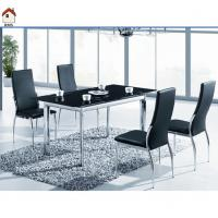 China modern luxury black glass dining table designs T340 wholesale