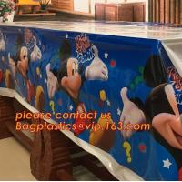 China vinyl tablecloth roll, vinyl peva printed table cloth in roll, 0.08mm to 0.25mm PVC/PEVA Double Side Printed wholesale t wholesale
