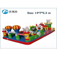 China cute sheep inflatable jumping castle and slide combo wholesale