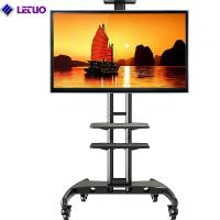 China TC64C Mobile TV Cart TV Stand with Wheels for 32 to 65 Inch LCD LED OLED Plasma Flat Panel Screens up to 100lbs on sale