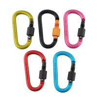 China Quick Release Safety Buckle Aluminum Carabiner Key Chain Lock For Camping Hiking wholesale