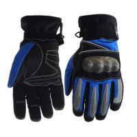 China Palm - Microfiber Electric Motorcycle Parts Blue / Black Electric Motorcycle Gloves wholesale
