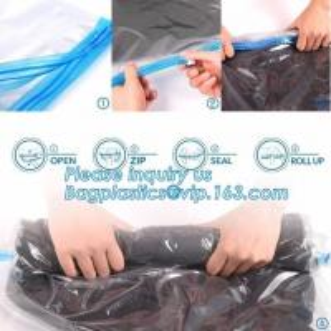 China PA ziploc space bag for travel, vacuum pack mattress bag, vacuum plastic storage bags, vacuum quilt packing bags, flat v on sale
