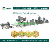 China Full automatic Fried 3D Papad pellet Snacks food extruder machine production line on sale
